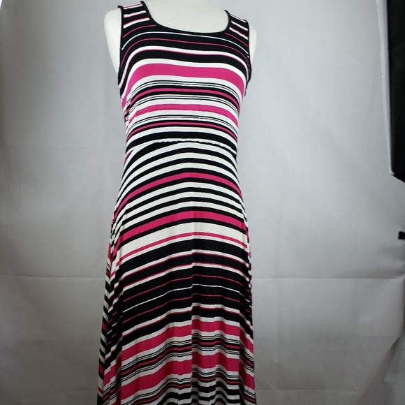 Spense Dresses & Skirts - 🔵5/$50🔵 Spense Striped Black Pink White Dress M